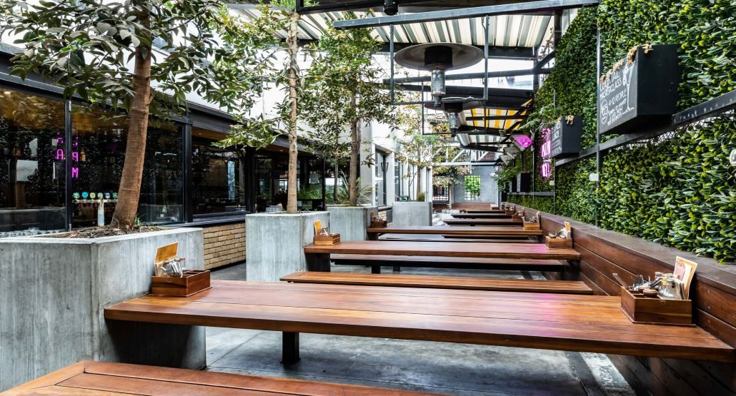 Courtyard Function Space at Newmarket St Kilda